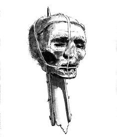 cromwell's head on spike